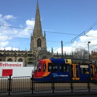 Photo taken at Cathedral Tram Stop by Gaz on 4/15/2013