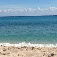 Photo taken at Lantana Beach by Liza S. on 2/3/2013