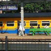 Photo taken at Stasiun Tanah Abang by Donny T. on 7/23/2013