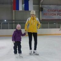 Photo taken at Хоккейный центр Амур by Anna R. on 11/24/2012