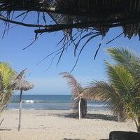 Photo taken at Cabañas Mahumar;Cabins & Beach Club.Playa Azul by El M. on 7/13/2014