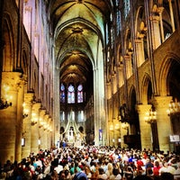 Photo taken at Cathedral of Notre Dame de Paris by Guto M. on 7/14/2013