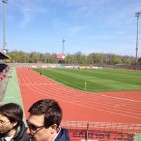 Photo taken at Südstadion by Γιάννης L. on 4/20/2013