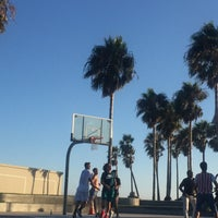 Photo taken at Venice Beach Basketball Courts by Michael P. on 8/8/2017