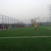 Photo taken at Casa Bella Football Ground by Ajay S. on 8/24/2014