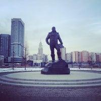 Photo taken at Памятник Водопьянову Михаилу Васильевичу by Anna O. on 4/3/2014