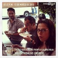 Photo taken at Tacos & Quecas de la Cruz Roja by Carlos O. on 3/12/2013