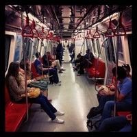 Photo taken at Levent Metro İstasyonu by Ali B. on 5/10/2013