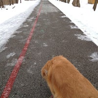 Photo taken at Monon Trail at Broad Ripple Apartments by Cassie B. on 1/3/2013
