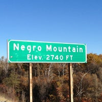 Photo taken at Negro Mountain by Matt R. on 10/17/2012
