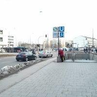 Photo taken at Giesinger Bahnhofsplatz by Sven Philipp A. on 3/5/2013