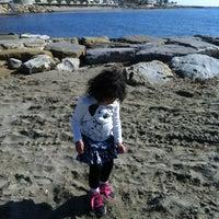 Photo taken at Spiaggia Santo Stefano Al Mare by Anna R. on 3/2/2013