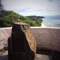 Photo taken at Amelia Earhart marker at Diamond Head Lookout by @LasVegasCanuck on 1/2/2014