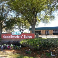 "Photo taken at Ocala Breeders Sale by WILFREDO ""WILO"" R. on 3/5/2013"