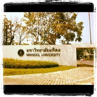 Photo taken at Mahidol University by Art T. on 10/16/2012