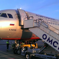 Photo taken at Omsk Central International Airport (OMS) by Дмитрий О. on 7/23/2013