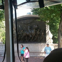 Photo taken at Robert Gould Shaw Memorial by Natalie K. on 7/7/2016