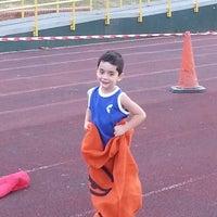Photo taken at Finsbury Park Athletics Track by Fernando R. on 7/22/2013