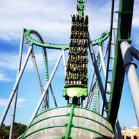 Photo taken at The Incredible Hulk Coaster by Jorge R. on 10/10/2012