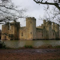 Photo taken at Bodiam Castle by Arnaud D. on 1/25/2014