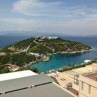 Photo taken at Hilton Bodrum Türkbükü Resort & Spa by Hande M. on 5/16/2013