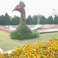 Photo taken at Taman Bunga Nusantara by Mia S. on 9/27/2012