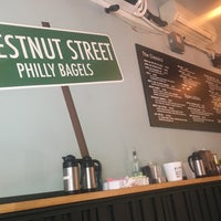 Photo taken at Chestnut Street Philly Bagels by Hayaween B. on 9/2/2016