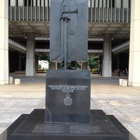 Photo taken at Saint Damien of Molokaʻi Statue by Harry H. on 10/2/2012