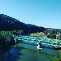 Photo taken at 鹿乗橋 by 和彩 on 3/21/2016
