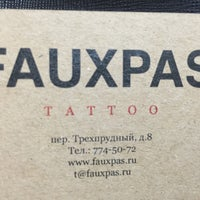4/30/2016にOlga P.がFaux Pas Tattoo & Galleryで撮った写真