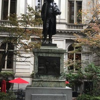 Photo taken at Benjamin Franklin Statue by Heath B. on 10/16/2017