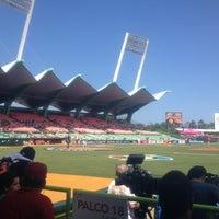 Photo taken at Estadio Hiram Bithorn by Luis C. on 3/10/2013