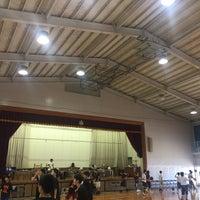 Photo taken at 福間東中学校 by Riko H. on 6/18/2017