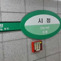Photo taken at City Hall Stn. by young chan c. on 8/7/2014