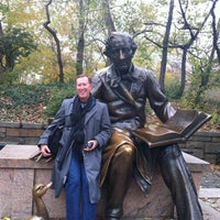 Photo taken at Hans Christian Andersen Statue by George S. on 11/10/2012