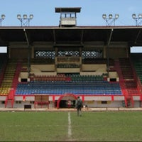 Photo taken at Stadion Andi Mattalatta (Mattoangin) by Ikal A. on 2/20/2013