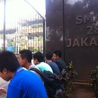 Photo taken at SMAN 28 Jakarta by Yuna Q. on 3/17/2014