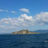 Photo taken at Hashima (Gunkanjima) Island by May C. on 10/2/2012