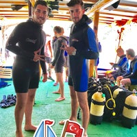 Photo taken at Extathlon Diving Center by Ahmet T. on 7/4/2017