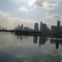 Photo taken at King Khaled Lagoon by Meem A. on 1/5/2013
