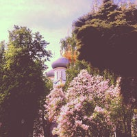 Photo taken at Novodevichy Convent by Natalia S. on 5/19/2013