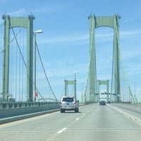 Photo taken at Delaware Memorial Bridge by David C. on 4/21/2013