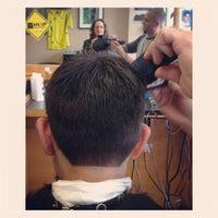 Photo taken at La Flamme Barber Shop by Zoe P. on 3/16/2013
