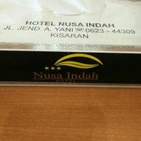 Photo taken at Nusa Indah Hotel, Kisaran by Dhani D. on 11/26/2015