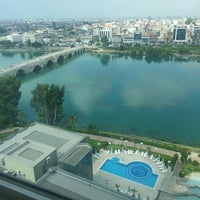 Photo taken at Adana HiltonSA by Ozgur O. on 6/29/2013