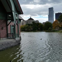 Photo taken at Harlem Meer by Richard R. on 10/26/2014