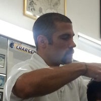 Photo taken at Del's Barber Shop by Mauro S. on 11/23/2013