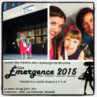 Photo taken at École des métiers des Faubourgs-de-Montréal by Miss Poudrette on 5/19/2015