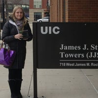 Photo taken at UIC - James Stukel Towers by Carrie C. on 1/13/2013