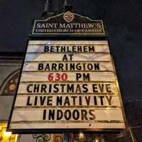 Photo taken at St. Matthew's United Church by David F. on 12/24/2016